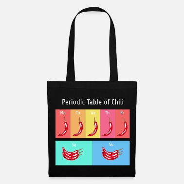 Chilli Periodic Table of Chili - Periodic Table of the Chili - Tote Bag