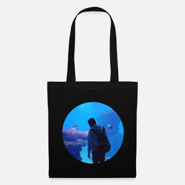 Under Water under water hai aquarium - Tote Bag