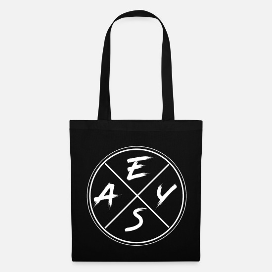 Birthday Bags & Backpacks - Simple, simple and straightforward - Tote Bag black