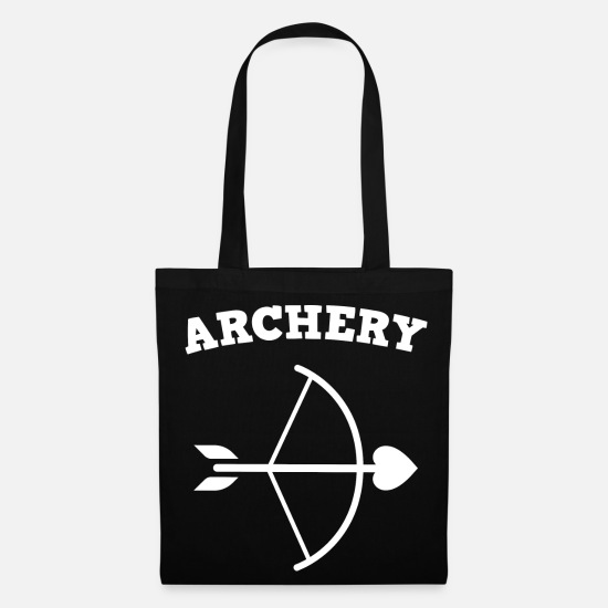 Arrow And Bow Bags & Backpacks - Archery shooting club arrow bow - Tote Bag black