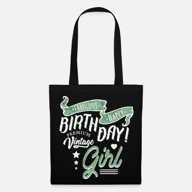 Happy Birthday Vintage Birthday Happy Birthday Girl - Bolsa de tela