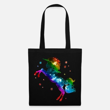Unicornio Unicorn rainbow, galaxy, space, gay, fantasy - Bolsa de tela