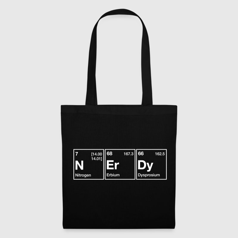 NErDy Periodic Table Word - Tote Bag