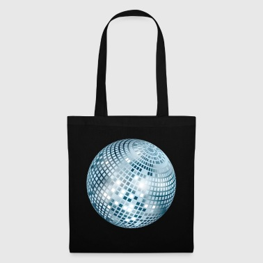 Disco Ball / Mirror Ball Glitter (Silver, PNG) - Tote Bag