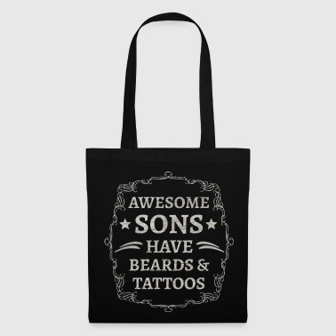 Tattoo Son Sons Beard Tattoo Tattoos Gift - Bolsa de tela