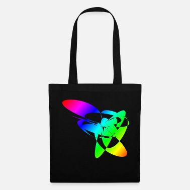 Relaxe Colorful Rainbow Mandalas & Sixties Flower Power - Tote Bag