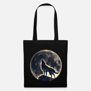Witchcraft Wolf full moon, wolves, native, Indians, wild, dog - Tote Bag