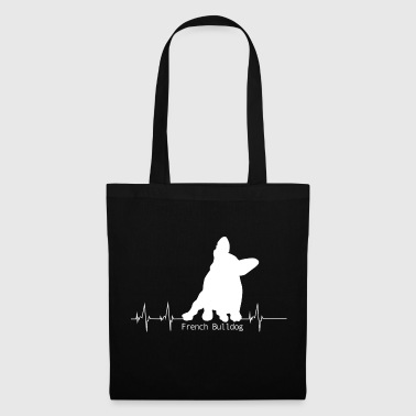 Bouledogue français battement de coeur T-shirt - Tote Bag