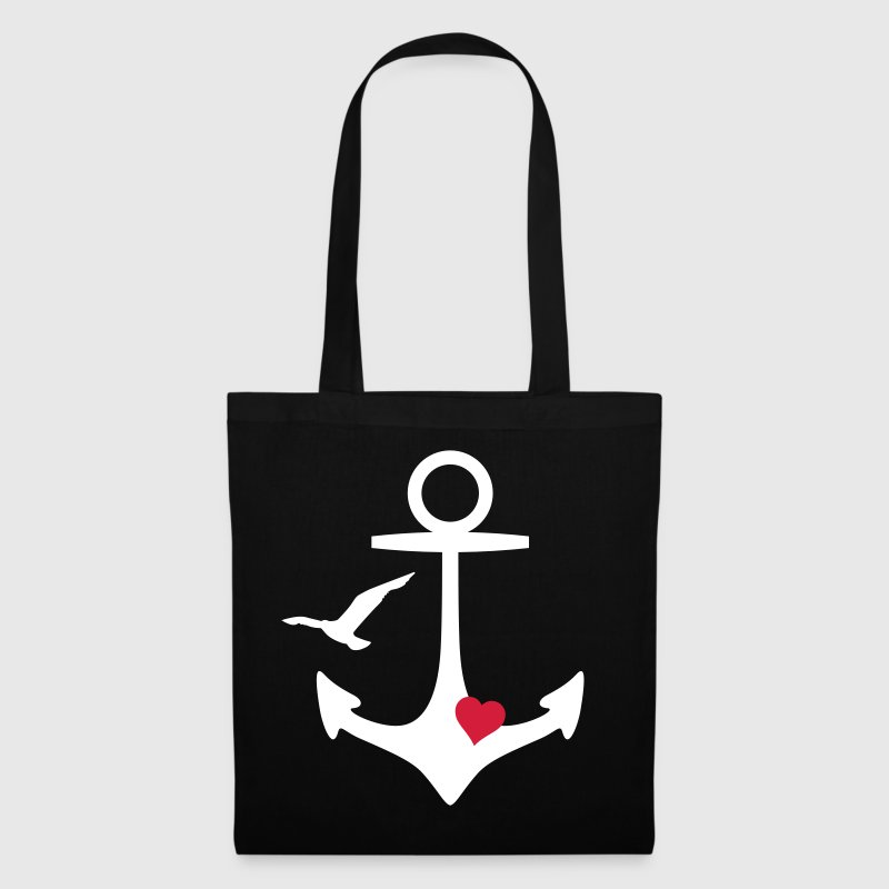 anchor heart and gull - Tote Bag