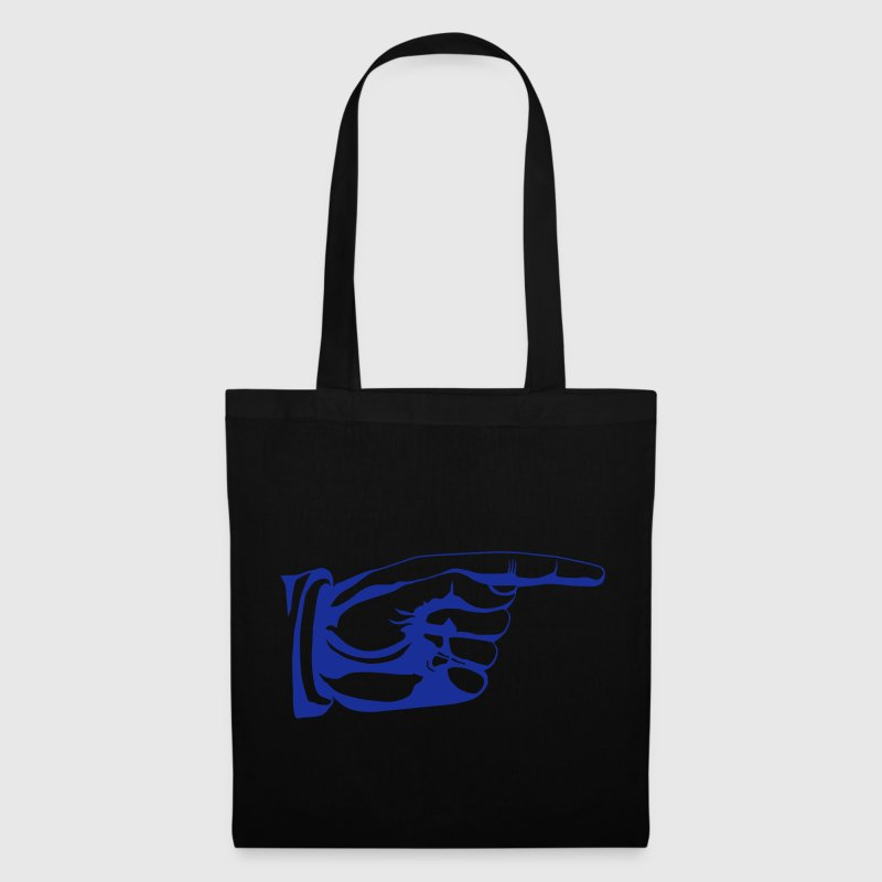 This way old fashioned pointing hand sign - Tote Bag