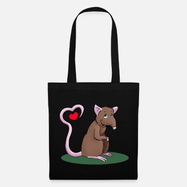 Rat Rat with heart - Tote Bag