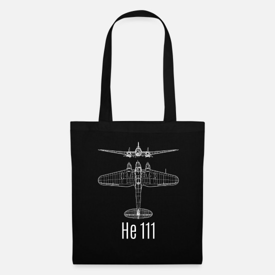 World War Bags & Backpacks - Hey 111 He111 bomber - Tote Bag black