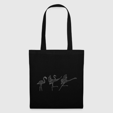 0035.2 Trois polygones flamants (en miroir) - Tote Bag
