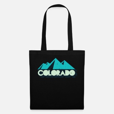 Retro Retro Vintage Black Colorado Distressed T-Shirt - Tote Bag