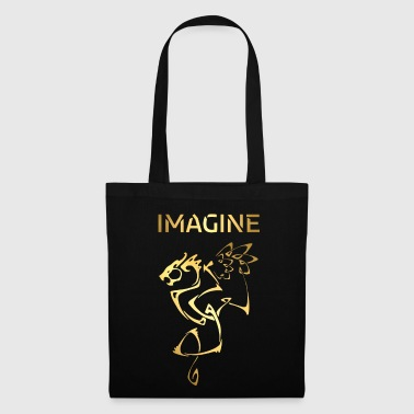 St Valentin Imagine Fantasy Dragon Tattoo Style Design - Tote Bag