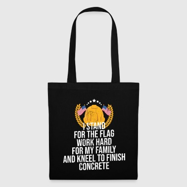 Trend Concrete Flag Shirt Concreter Construction Worker - Tote Bag