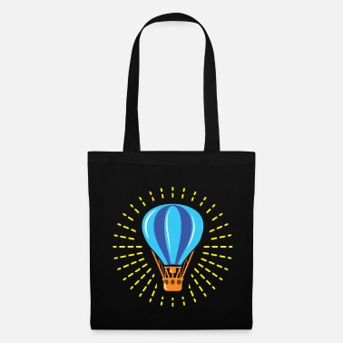 Scenic Hot air balloon gift basket fire gas - Tote Bag