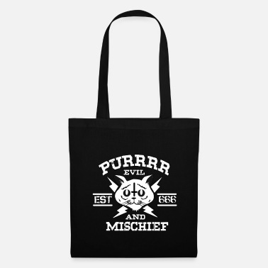 Pentagram Chat chaton miaou mal diabolique antichrist 666 - Tote Bag