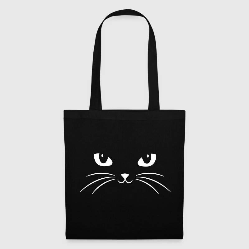 Cat Face With Big Eyes - Tote Bag
