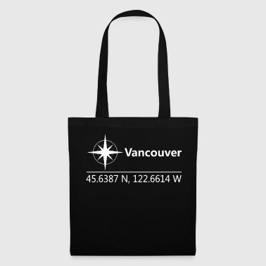Geographic Vancouver Canada Geographic coordinates - Tote Bag