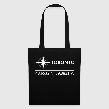 Geographic Toronto Canada Geographic coordinates - Tote Bag