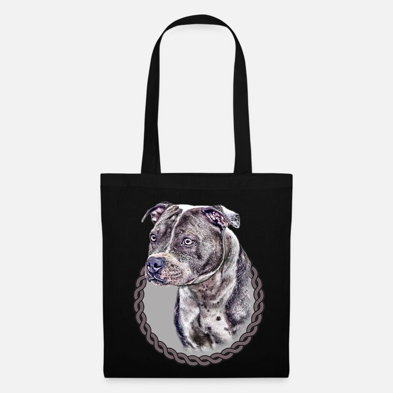 Bull Bags & Backpacks - Staffordshire Bull Terrier 001 - Tote Bag black