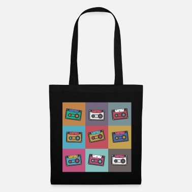Retro Pop Art Shirt Vintage Cassette Graphic Art Retro - Tote Bag