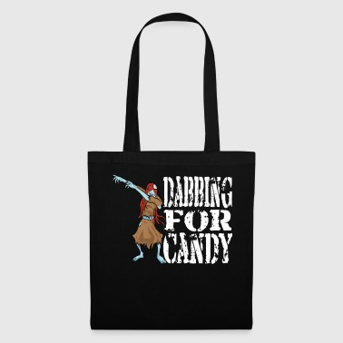 Move Funny Halloween Zombie Girl Dabbing For Candy. Trick or Treat Candy Lover Gift - Tote Bag