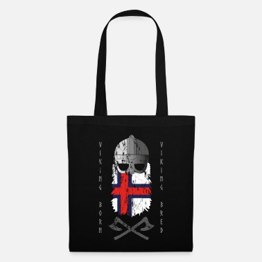 Bred Viking helmet Farrer Islands flag Viking Bred - Tote Bag
