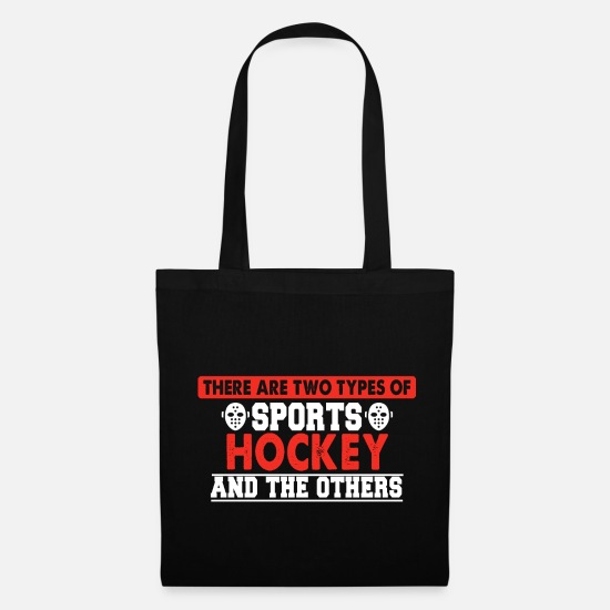 Indoor Hockey Bags & Backpacks - Hockey saying - Tote Bag black