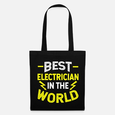 Lightning Bolt Electrician Shirt Best Electrician In The World - Tote Bag