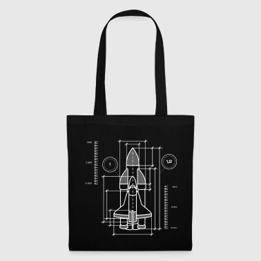 Weightless Spaceship blueprint | Galaxy Space Spaceflight - Tote Bag