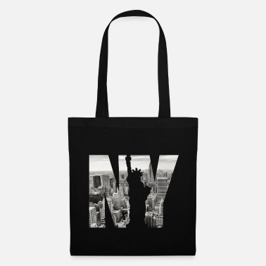Stars And Stripes NY Statue Image Design - Tote Bag