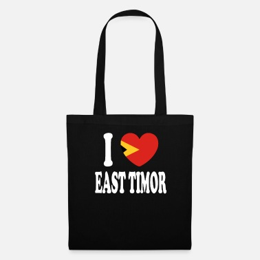 I Heart I Love East Timor - Stoffbeutel