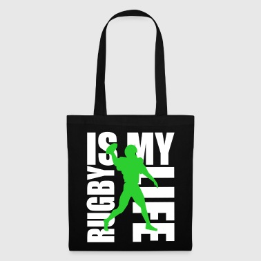 rugby is my life - Bolsa de tela