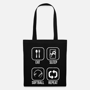 Softball Eat Sleep Softball Repeat - Borsa di stoffa