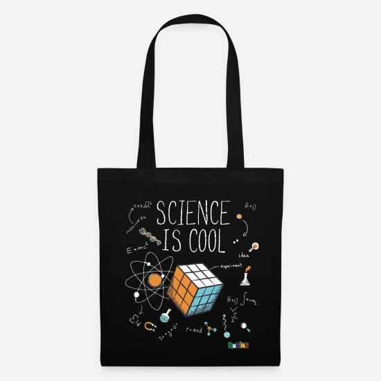 Science Bags & Backpacks - Rubik's Cube Science Is Cool - Tote Bag black
