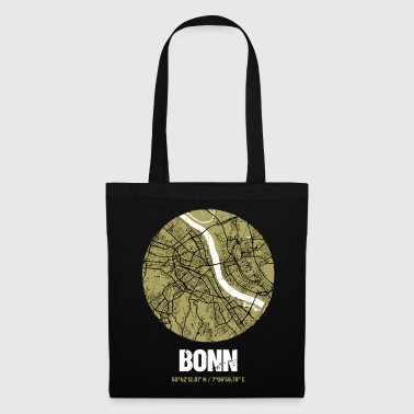 Bonn - City Map Map (olive green) - Tote Bag
