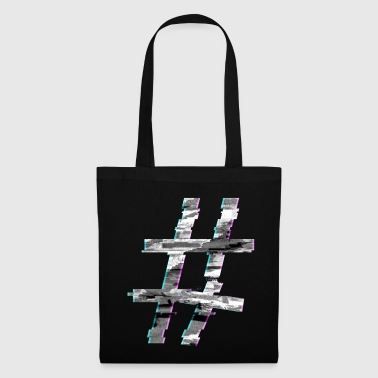Glitch hashtag - Tote Bag