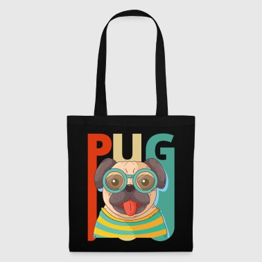 Pug Vintage Retro Pug Dog Puppy. Year of the Dog Gifts - Tote Bag