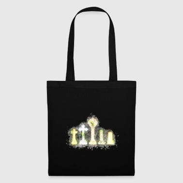 Cemetery gravestone brightly glowing - Tote Bag