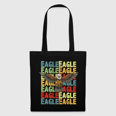 Attacking Eagle with colored lettering Eagle - Tote Bag