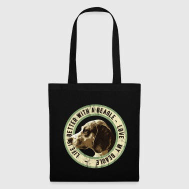 Golden Retriever Beagle for Ever, Beagle Dog Lover Gift - Borsa di stoffa