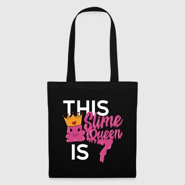 Pink Slime Queen 7 years old 7th birthday - Tote Bag