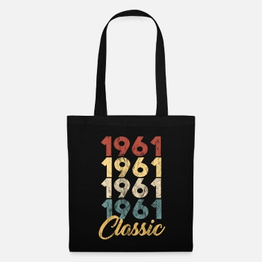1961 Vintage Retro Born In 1961 58th Birthday Gift - Tote Bag