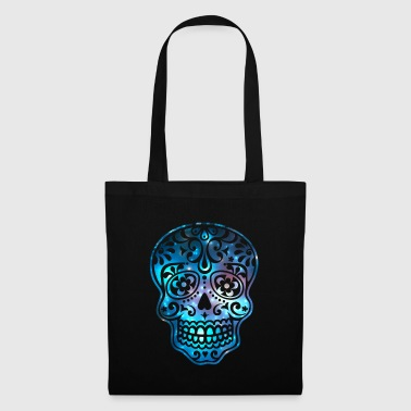 Sugar Skull, Space, Galaxy Style, Cosmic - Tote Bag