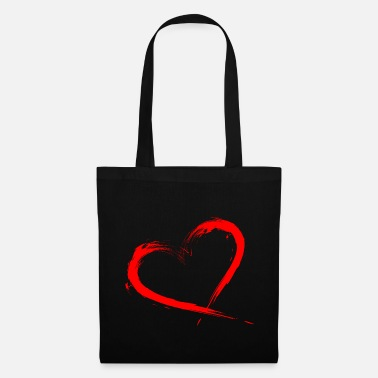 Vector Heart Design Brush Red New Vector Art - Tas van stof