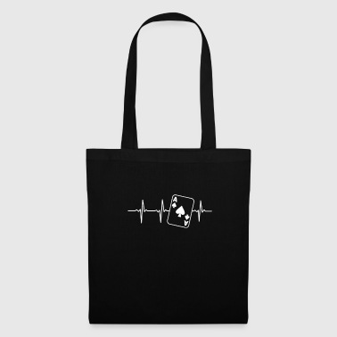 Pik Lucky Poker Heartbeat ECG Love Gift - Tote Bag