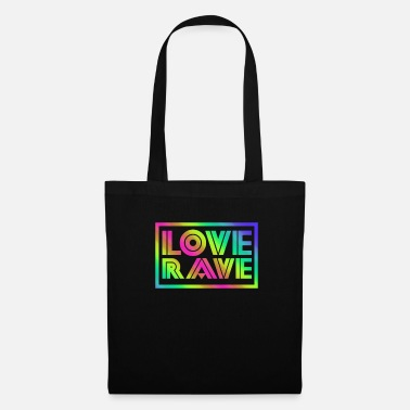 Line Dancing Edm Rave Rainbow I Love Rave Gift - Tote Bag