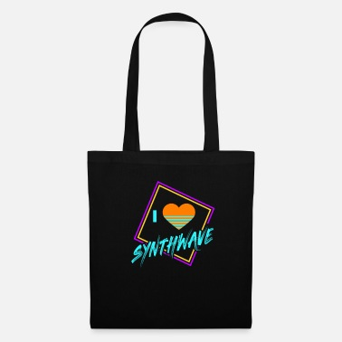 Eighty 80s Synthwave Geometric I Love Synthwave Gift - Tote Bag